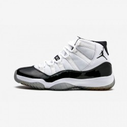 "Air Jordan 11 Retro ""Concord"" 378037 107 Black Patent Leather And Rubber White/Black-Dark Concord Basketball Shoes"