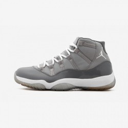 "Air Jordan 11 Retro ""Cool Grey"" 378037 001 Grey Patent Leather And Rubber Medium Grey/White-Cool Grey Basketball Shoes"