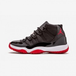 "Air Jordan 11 Retro ""Countdown Pack"" 136046 062 Black Leather And Patent Leather And Synthetics Black/Varsity Red-White Basketball Shoes"