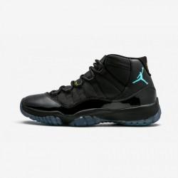"Air Jordan 11 Retro ""Gamma"" 378037 006 Black Patent Leather And Rubber Black/Gamma Blue-Varsity Maize Basketball Shoes"