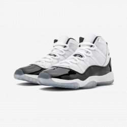 "Air Jordan 11 Retro (GS) ""Concord (2018)"" 378038 100 Black White/ Black-Concord Basketball Shoes"