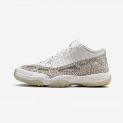 Air Jordan 11 Retro Low 306008 142 Grey Leather White/Cobalt-Zen Grey Basketball Shoes