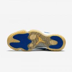 Air Jordan 11 Retro Low 306008 471 Blue Argon Blue/Zest-White Basketball Shoes