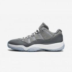 Air Jordan 11 Retro Low 528895 003 Grey Patent Leather And Rubber Medium Grey/White-Gunsmoke Basketball Shoes