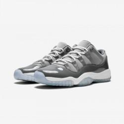 Air Jordan 11 Retro Low BG 528896 003 Grey Patent Leather And Rubber Medium Grey / White-Gunsmoke Basketball Shoes