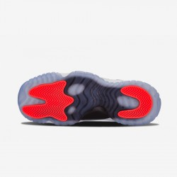 "Air Jordan 11 Retro Low BG ""Infrared"" 528896 023 Black Leather And Patent Leather And Synthetics Black/Infrared 23-Pr Platinum Basketball Shoes"