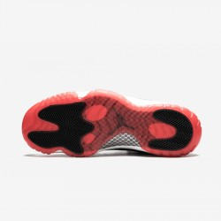"""Air Jordan 11 Retro Low """"Bred"""" 528895 012 Black Patent Leather And Rubber Black/True Red-White Basketball Shoes"""