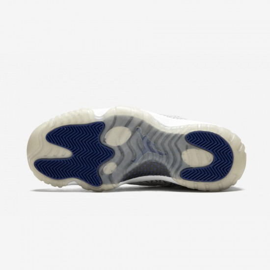 """Air Jordan 11 Retro Low """"Cobalt"""" 306008 102 Grey Patent Leather And Rubber White/Cobalt-Zen Grey-Cmnt Gry Basketball Shoes"""