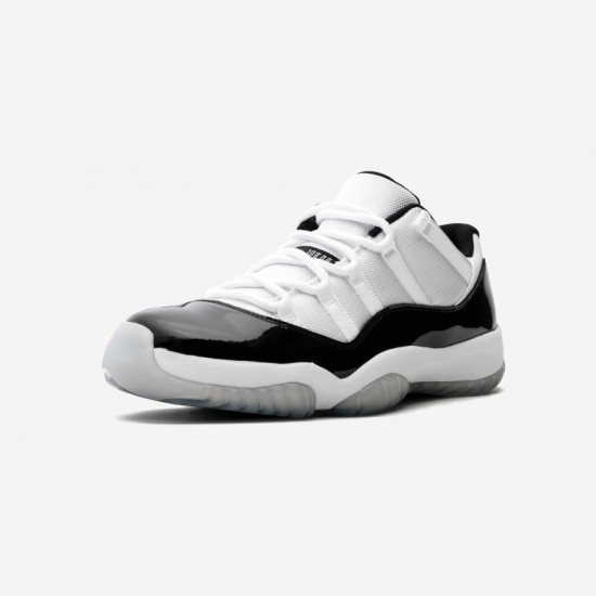 """Air Jordan 11 Retro Low """"Concord"""" 528895 153 Black Patent Leather And Rubber White/Black-Dark Concord Basketball Shoes"""
