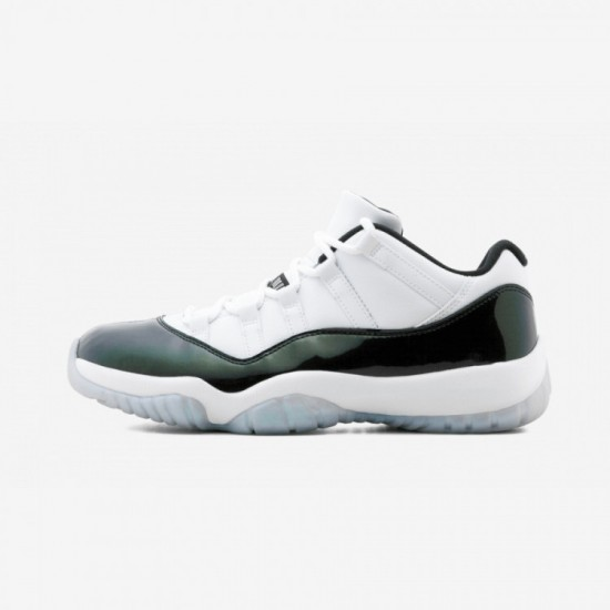 """Air Jordan 11 Retro Low """"Easter Emerald"""" 528895 145 Green Patent Leather And Rubber White/Black-Emerald Rise Basketball Shoes"""