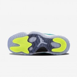 """Air Jordan 11 Retro Low (GS) """"Turbo Green"""" 580521 143 Green Leather And Synthetics White/Turbo Green-Volt Ice-Blk Basketball Shoes"""