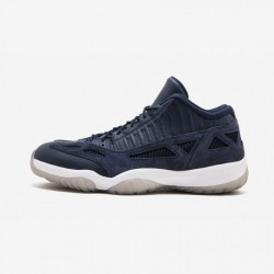 Air Jordan 11 Retro Low IE 919712 400 Navy Leather And Rubber Obsidian/Obsidian-White Basketball Shoes