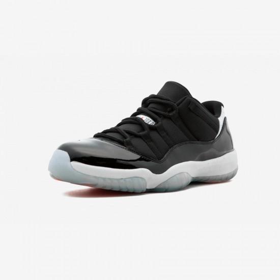 "Air Jordan 11 Retro Low ""Infrared"" 528895 023 Black Leather And Patent Leather And Synthetics Black/Infrared 23-Pr Platinum Basketball Shoes"
