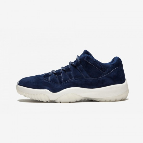 """Air Jordan 11 Retro Low """"RE2PECT"""" AV2187 441 Navy Patent Leather And Rubber Binary Blue/Binary Blue-Sail Basketball Shoes"""