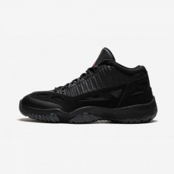 """Air Jordan 11 Retro Low """"Referee"""" 306008 003 Black Patent Leather And Rubber Black/True Red Basketball Shoes"""
