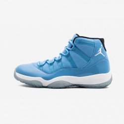 "Air Jordan 11 Retro ""Pantone"" 689479 405 Light Blue Leather And Patent Leather Pantone/White Basketball Shoes"