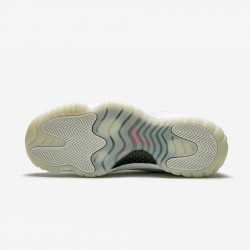 """Air Jordan 11 Retro """"Platinum Tint"""" 378037 016 Grey Platinum Tint/Sail-University Basketball Shoes"""
