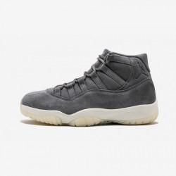"Air Jordan 11 Retro PREM ""Pinnacle"" 914433 003 Grey Patent Leather And Rubber Cool Grey/Sail Basketball Shoes"