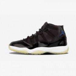 "Air Jordan 11 Retro ""Space Jam 2000"" 136046 041 Black Patent Leather And Rubber Black/Varsity Royal-White Basketball Shoes"