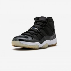 """Air Jordan 11 Retro """"Space Jam - 2009"""" 378037 041 Black Leather And Patent Leather And Synthetics Black/Varsity Royal-White Basketball Shoes"""
