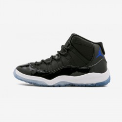 """Jordan 11 Retro BP """"2016 Space Jam"""" 378039 003 Black Leather And Patent Leather And Synthetics Black/Concord-White Basketball Shoes"""