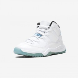 """Jordan 11 Retro BP """"Legend Blue"""" 378039 117 Light Blue Leather And Patent Leather And Synthetics White/Legend Blue Basketball Shoes"""