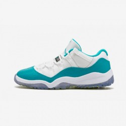 """Jordan 11 Retro Low GP """"Turbo Green"""" 580522 143 Teal Patent Leather And Rubber White/Turbo Green-Volt Ice-Blk Basketball Shoes"""