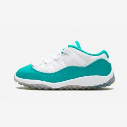Jordan 11 Retro Low GT 645107 143 Teal Leather And Synthetics White/Turbo Green-Black-Vlt Ic Basketball Shoes