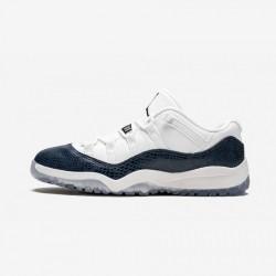 Jordan 11 Retro Low LE PS CD6848 102 Blue White/Black-Navy Basketball Shoes