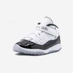 Jordan 11 Retro (TD) 378040 100 Black White/Black-Dark Concord Basketball Shoes
