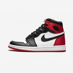 "Air Jordan 1 Womens High OG ""Satin Black Toe"" CD0461 016 Black Black/Black-White-Varsity Red Basketball Shoes"