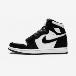 "Air Jordan 1 Womens High OG ""Twist"" CD0461 007 Black Black/Black-Metallic Gold Basketball Shoes"