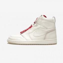 "Air Jordan 1 Womens High Zip AWOK ""Vogue Sail"" BQ0864 106 Red Sail/Sail-University Red Basketball Shoes"