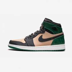 Air Jordan 1 Womens Retro High Premium AH7389 203 Beige Bio Beige/Anthracite Basketball Shoes