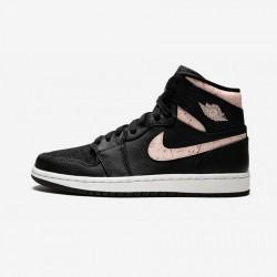 "Air Jordan 1 Womens Retro Prem ""Black Silt Red"" AQ9131 001 Black Black/Silt Red-Rush Maroon Basketball Shoes"