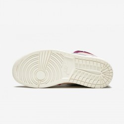"Air Jordan 1 Womens High OG NRG ""Aleali May - Court Lux"" BV2613 600 Multicolore Bordeaux/Lt Armory Blue Basketball Shoes"