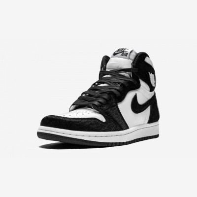 "Air Jordan 1 Womens High OG ""Twist"" CD0461 007 Black Black/Black-Metallic Gold Basketball Shoes"