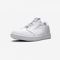 Air Jordan 1 Womens Ret Low Slip AV3918 100 White White/Black Basketball Shoes