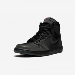 "Air Jordan 1 Womens Retro High ""Rox Brown"" BV1576 001 Black Black/Black-University Red Basketball Shoes"