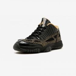 Air Jordan 11 Womens Retro Low 316318 071 Black Black/Metallic Gold Basketball Shoes
