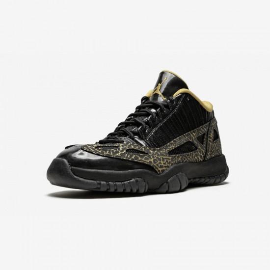 Air Jordan 11 Womens Retro Low 316318 071 Black Black/Metallic Gold Basketball Shoes