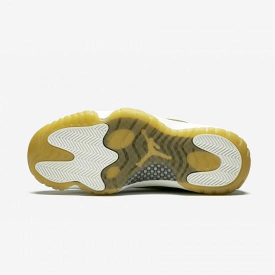 "Air Jordan 11 Womens Retro ""Neutral Olive"" AR0715 200 Gold Neutral Olive/Mtlc Stout-Sail Basketball Shoes"
