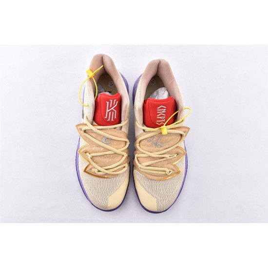 Concepts xNike Kyrie 5 Basketball Shoes CI9961-900 Mens Brown Red Purple Sneakers