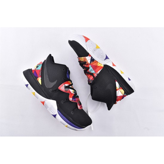 Nike Kyrie 5 Basketball Shoes AQ2456-010 Black Red Mens Sneakers