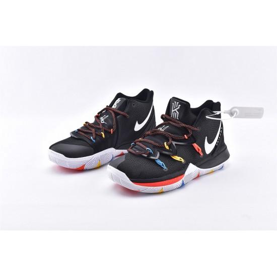 Nike Kyrie 5 Mens Basketball Shoes AO2919-006 Black White Sneakers