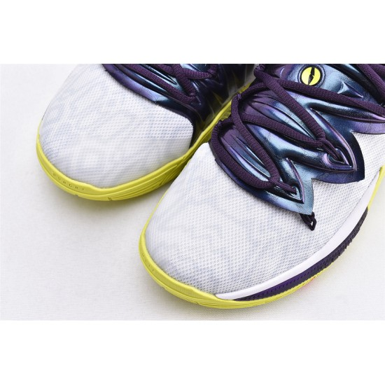 Nike Kyrie 5 Mens Basketball Shoes AO2919-102 White Yellow Blue Sneakers