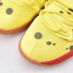 Nike Kyrie 5 Spongebob Basketball Shoes CJ6951-700 Yellow Brown Mens Sneakers