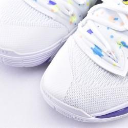 Nike Kyrie 5 White Blue Basketball Shoes AO2919-101 Mens Sneakers