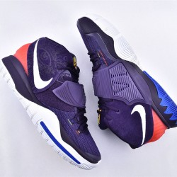 Nike Kyrie 6 Pre Heat Berlin Mens Basketball Shoes BQ4630-500 Purple Red White Sneakers