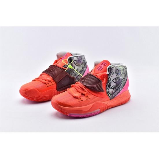 Nike Kyrie 6 Pre Heat Berlin Mens Basketball Shoes CN9839-600 Red Gray Purple Sneaker